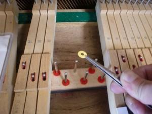 鍵盤の高さ調整