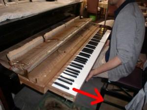 グランドピアノ 設置シュミレーション