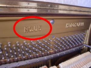 ピアノ・品番
